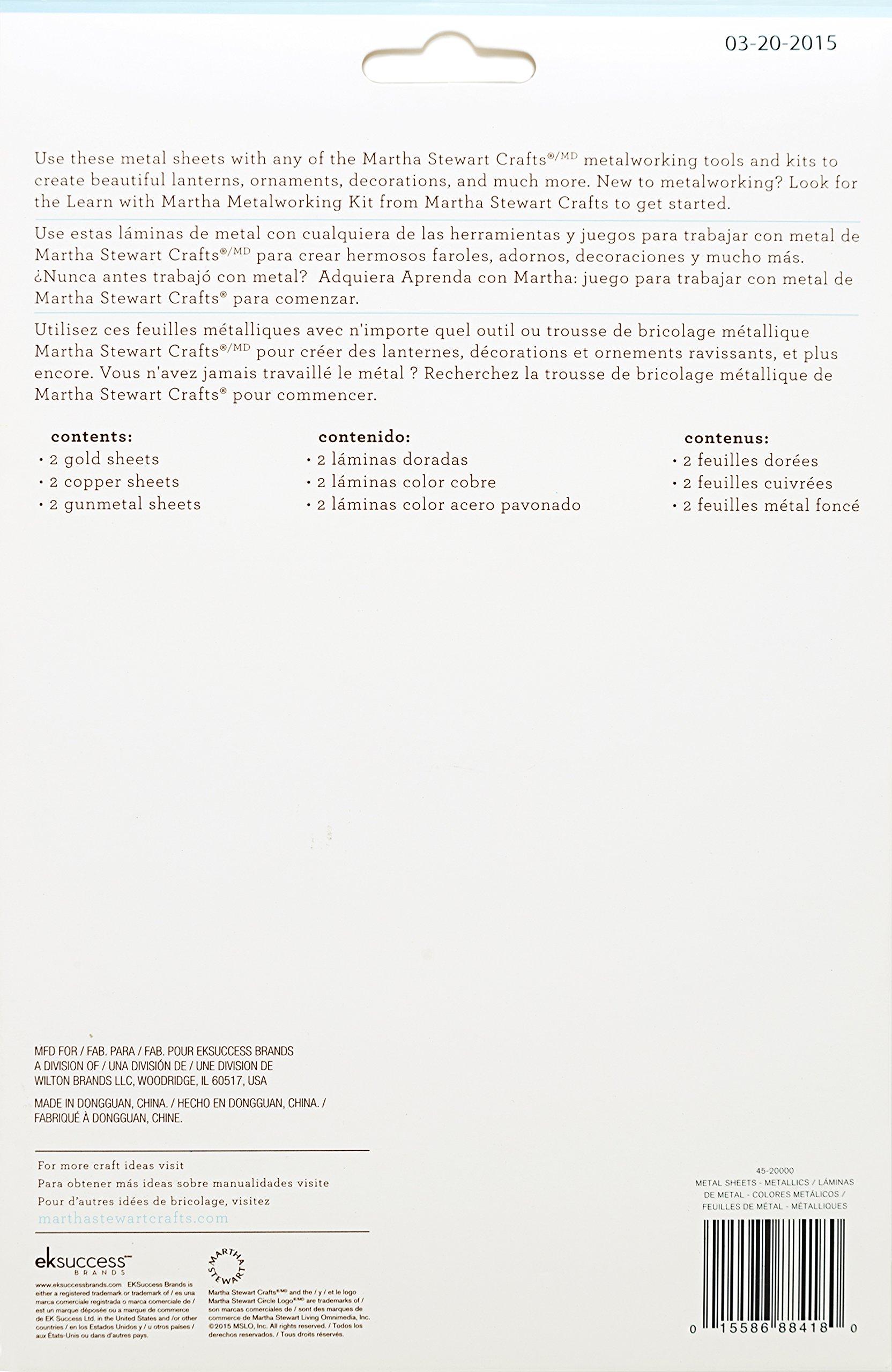 Martha Stewart Crafts 45-20000 Metal Working Metallic Sheets