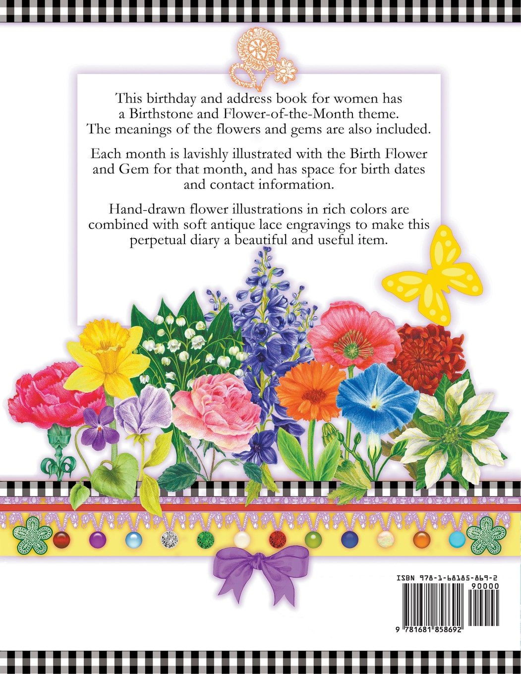 Birthday book with birth flowers and gems a perpetual diary with birthday book with birth flowers and gems a perpetual diary with birthstone and flower of the month anneke lipsanen 9781681858692 amazon books izmirmasajfo Images