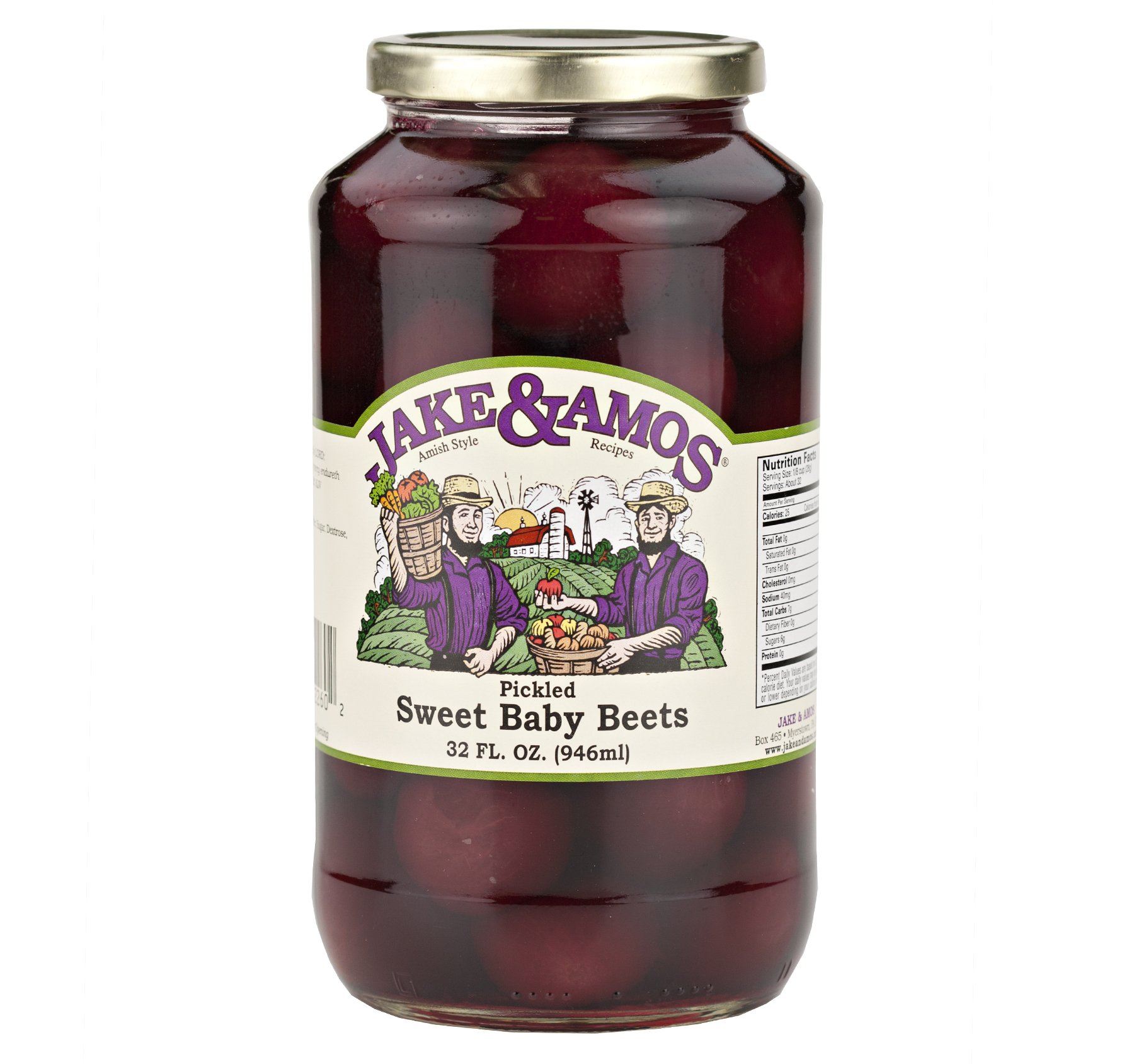 Jake & Amos Pickled Sweet Baby Beets 32 Oz. (2 Jars) by Jake & Amos®