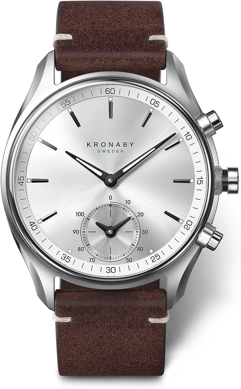 Kronaby SEKEL Herren Hybrid Smartwatch A1000-0714 eine traditionelle Uhr mit Smartwatch Funktionalitäten 41 mm Gehäusedurchmesser Saphirglas 100 Meter wasserdicht: Amazon.de: Uhren - Hybrid-Smartwatch