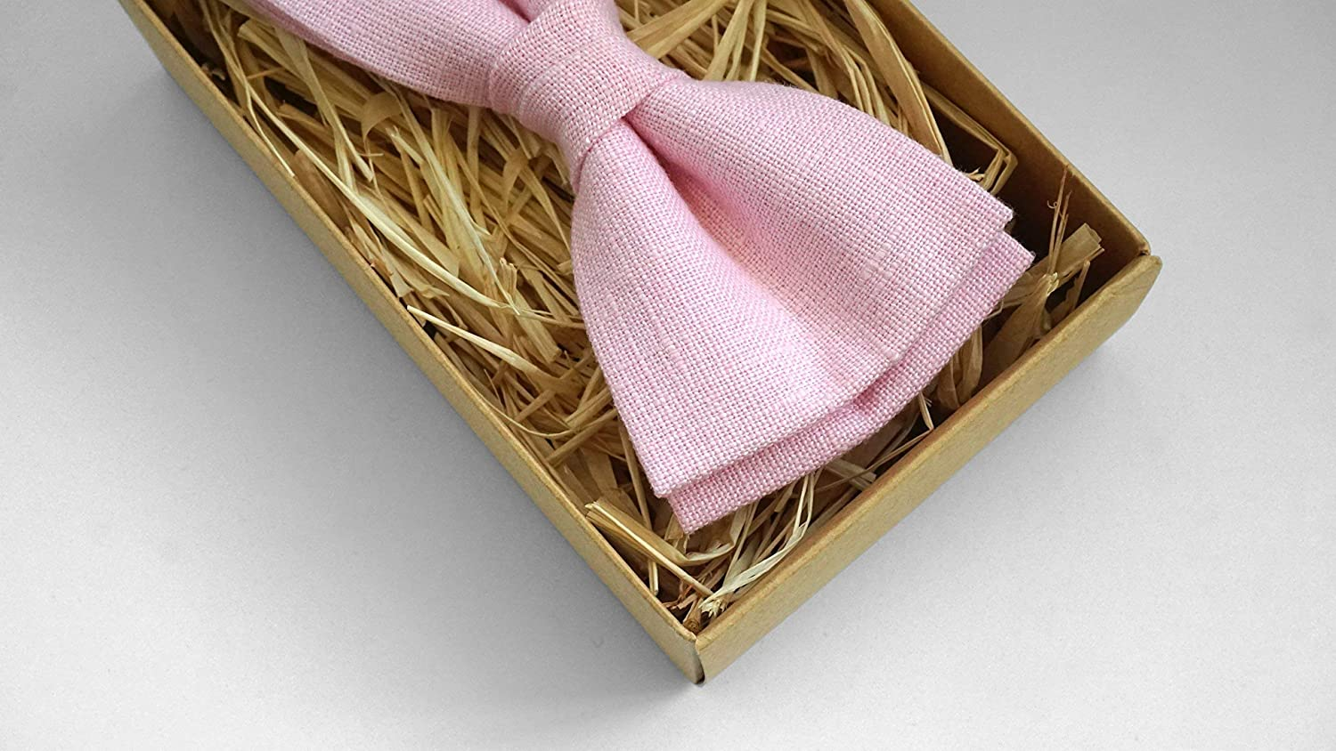 Pink color linen necktie for man wedding necktie for groomsmen proposal gift available with matching pocket square