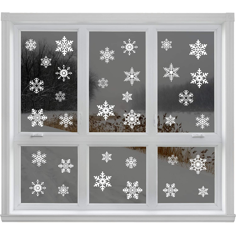 Articlings 2847279, 42 Original Snowflake Window Clings Fabulous Static PVC Stickers Articlings 2847279
