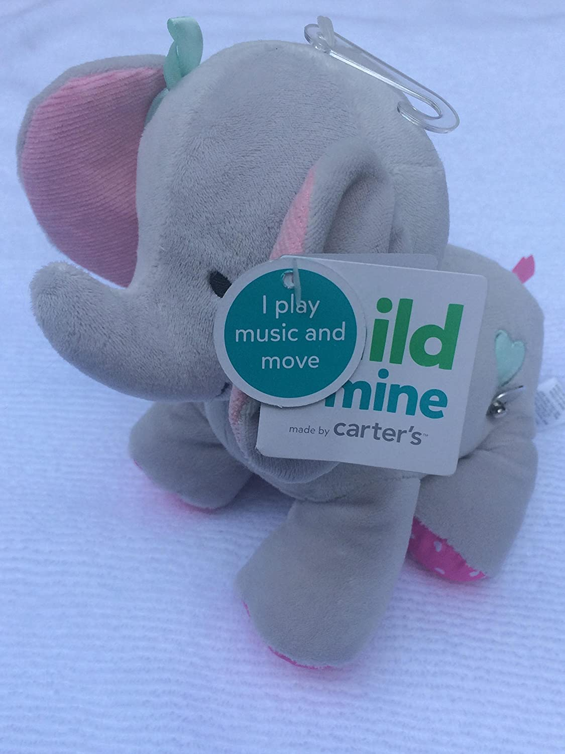 Carter's Child of Mine Gray Musical Elephant Baby Plush Toy Child of Mine Carter's