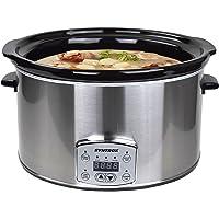 Syntrox Germany 8,0 liter digitale roestvrijstalen slow cooker met timer en warmhoudfunctie