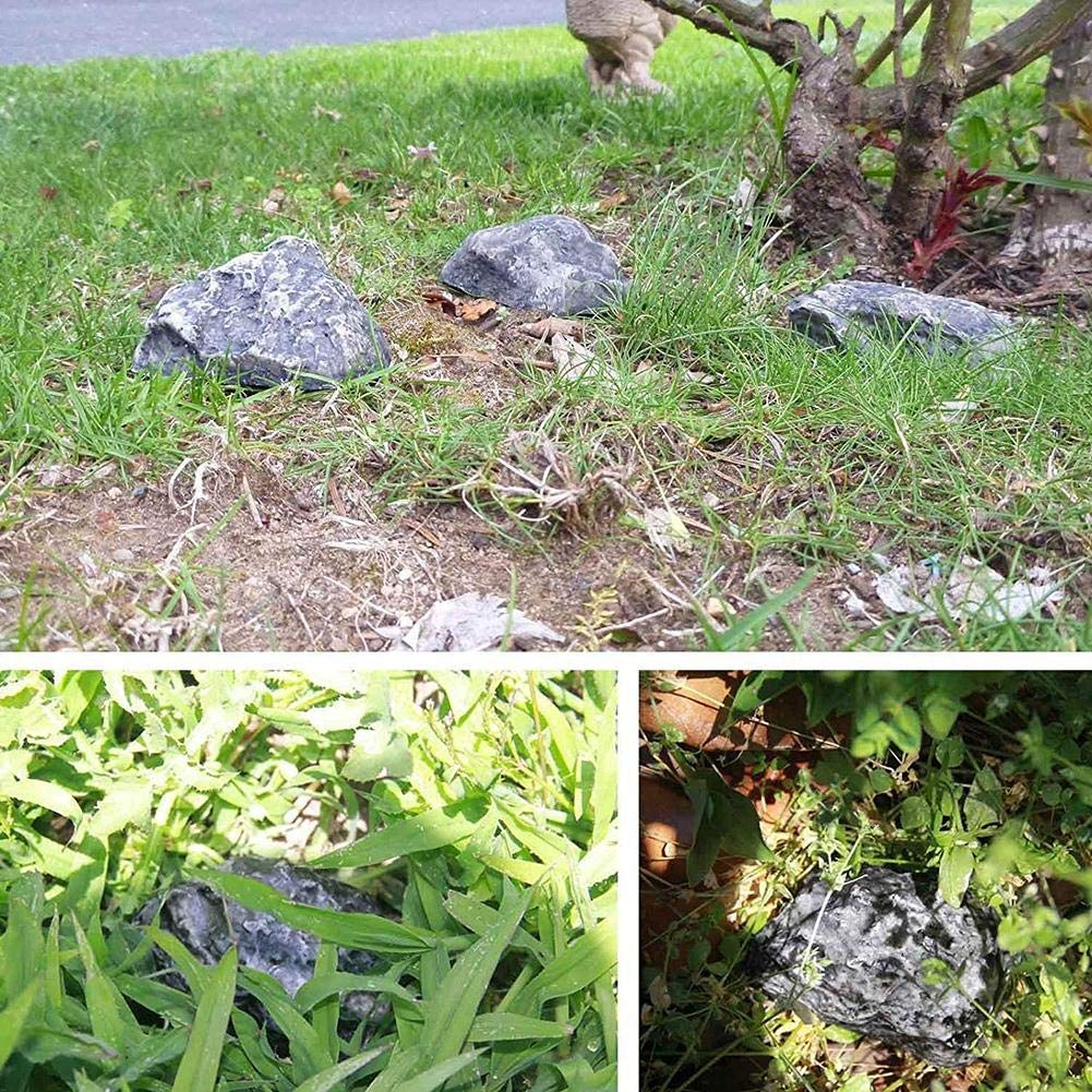 1 unidad Escondite al aire libre almacenamiento seguro oculta en la piedra jard/ín de calidad duradera Caja fuerte para llaves de repuesto para exteriores para jard/ín o patio