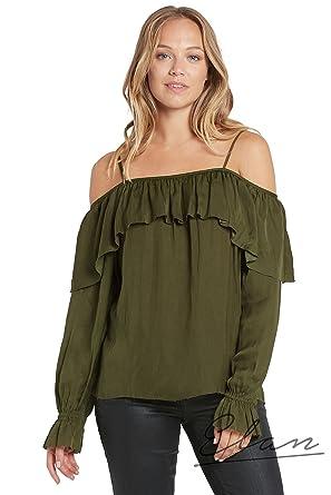 d4cfb0dcd505c1 ELAN Off Shoulder Ruffle Top at Amazon Women s Clothing store