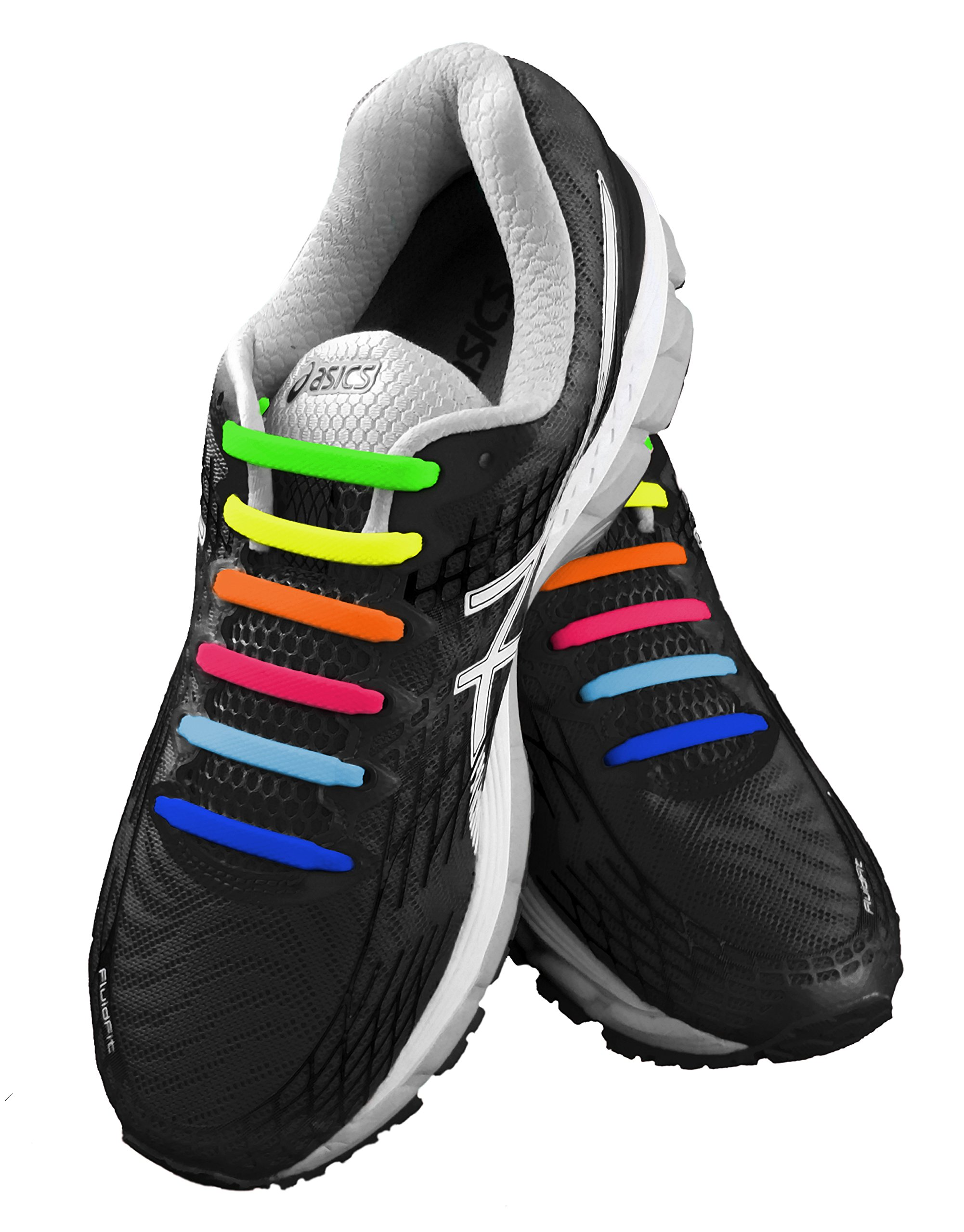 79fa20b8c71a0 KICKS No Tie Shoelaces for Kids & Adults. The Elastic, Silicone Shoe ...