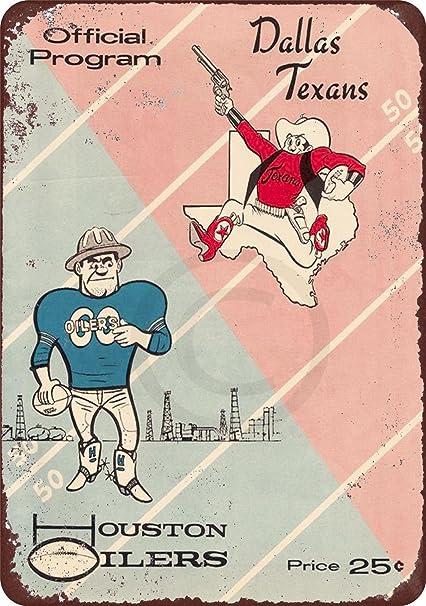 Amazon.com  1960 Dallas Texans vs Houston Oilers Vintage ... cc46ff211