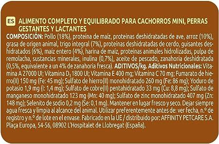 Ultima Pienso para Perros Mini Junior con Pollo - Pack de 8 x 800 g, Total: 6.4 kg