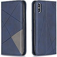 Hoesje voor iPhone XS/iPhone X Wallet Book Case, Magneet Flip Wallet met Kaarthouders slots Robuuste schokbestendige…