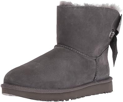 36c1a7de965729 Color  UGG Women s W Customizable Bailey Bow Mini Fashion Boot Charcoal 5  ...