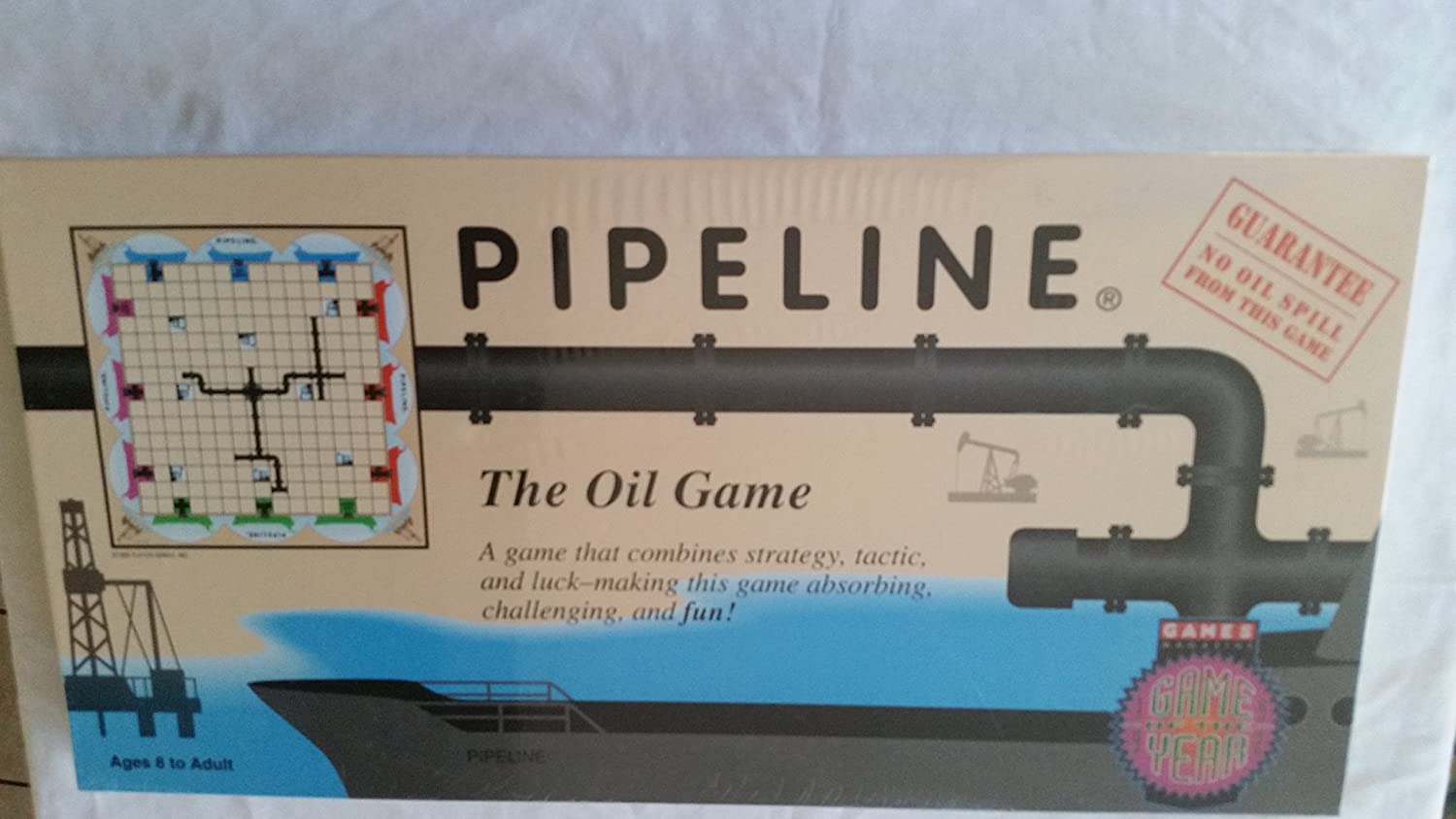 2-4 Players; Ages 8 + Playco Hawaii Inc. The Oil Game Pipeline