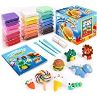 Sago Brothers Air Dry Clay, 24 Colors Modeling Clay for Kids, Molding Magic Clay for Slime add ins & Slime Supplies…