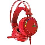 Gamepower Luna Kırmızı 7.1 Surround RGB Gaming Kulaklık Neodimyum 50mm Sürücüler 110dB Hassas Mikrofon -43dB RGB LED Aydınlatmalı Manuel + Yazılımla Ses Kontrol USB Bağlantı ve Ses Kartı