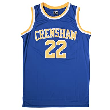 8e3811632e5f Amazon.com  Quincy McCall 22 Blue Basketball Jersey (M)  Clothing