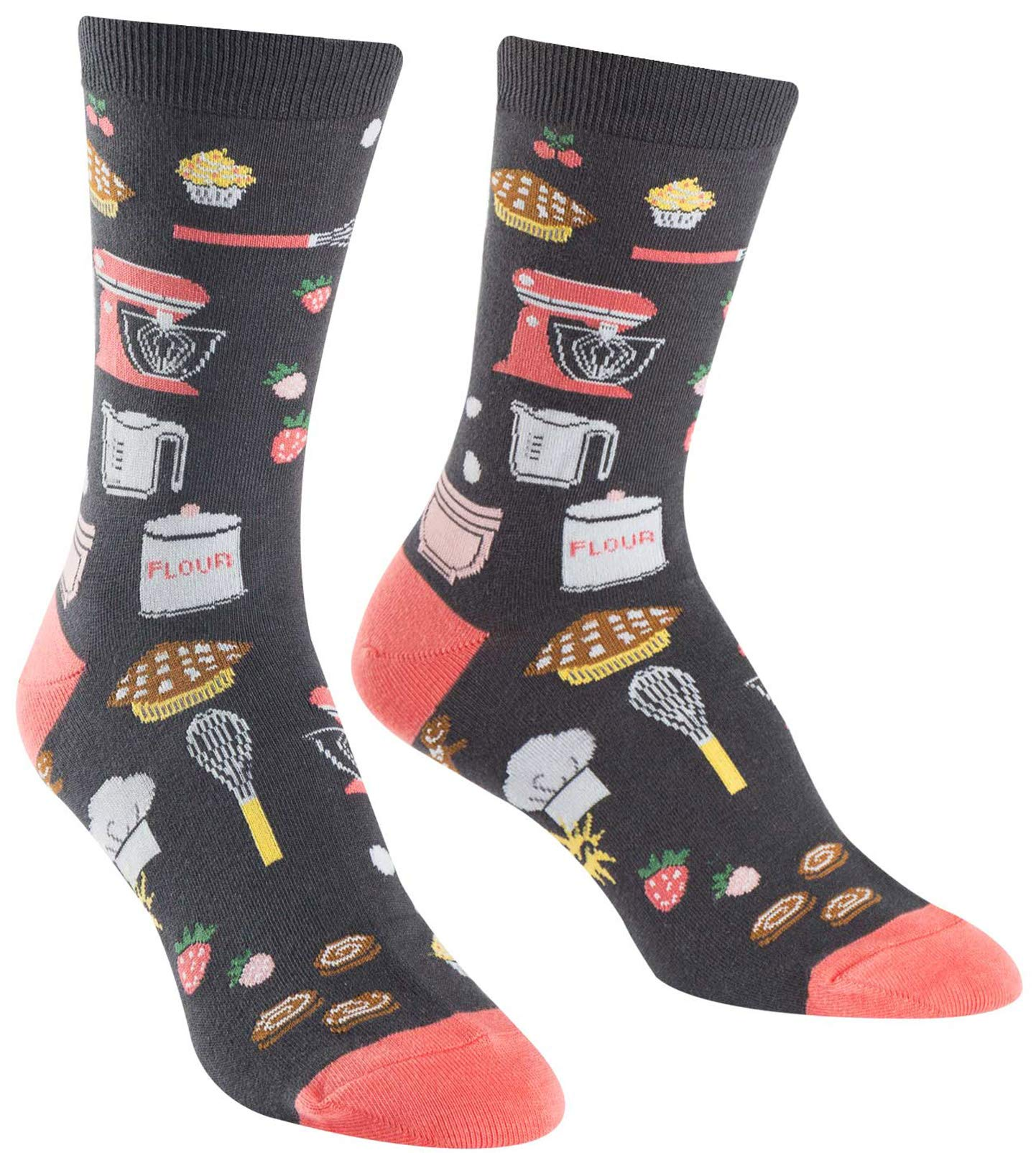 Sock It To Me, Whisking Business, Women's Crew Socks, Kitchen Food Socks