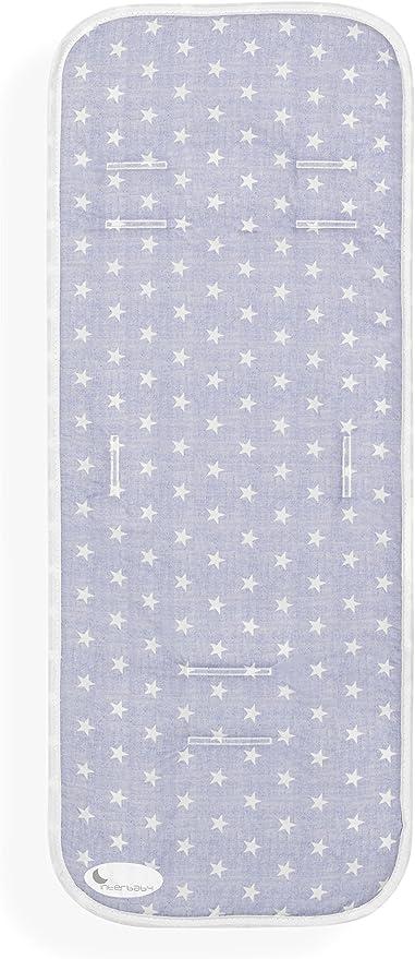 Colchoneta Silla de Paseo Universal Transpirable Star Azul ...