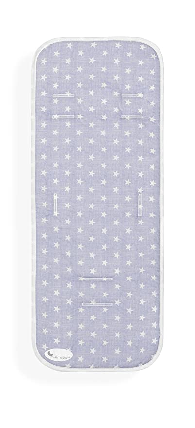 Colchoneta Silla de Paseo Universal Transpirable Star Azul-INTERBABY