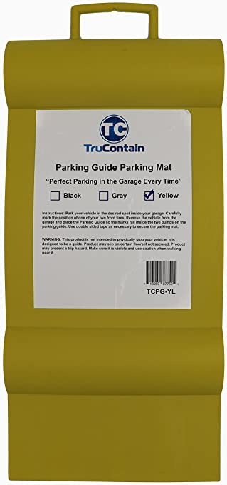 Yellow TruContain Parking Guide Parking Mat from