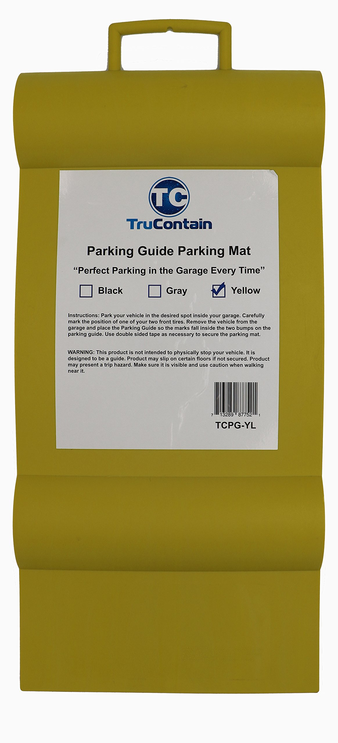 TruContain Parking Guide Parking Mat from (Yellow)