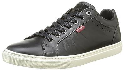 Levi's Beyers, Baskets Basses Homme, Noir (Regular Black), 40 EU