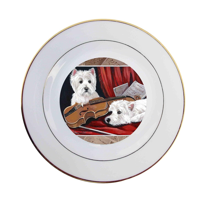 West Highland Terrier Westie Fiddlers-Ceramic Plate Chesta Co Inc