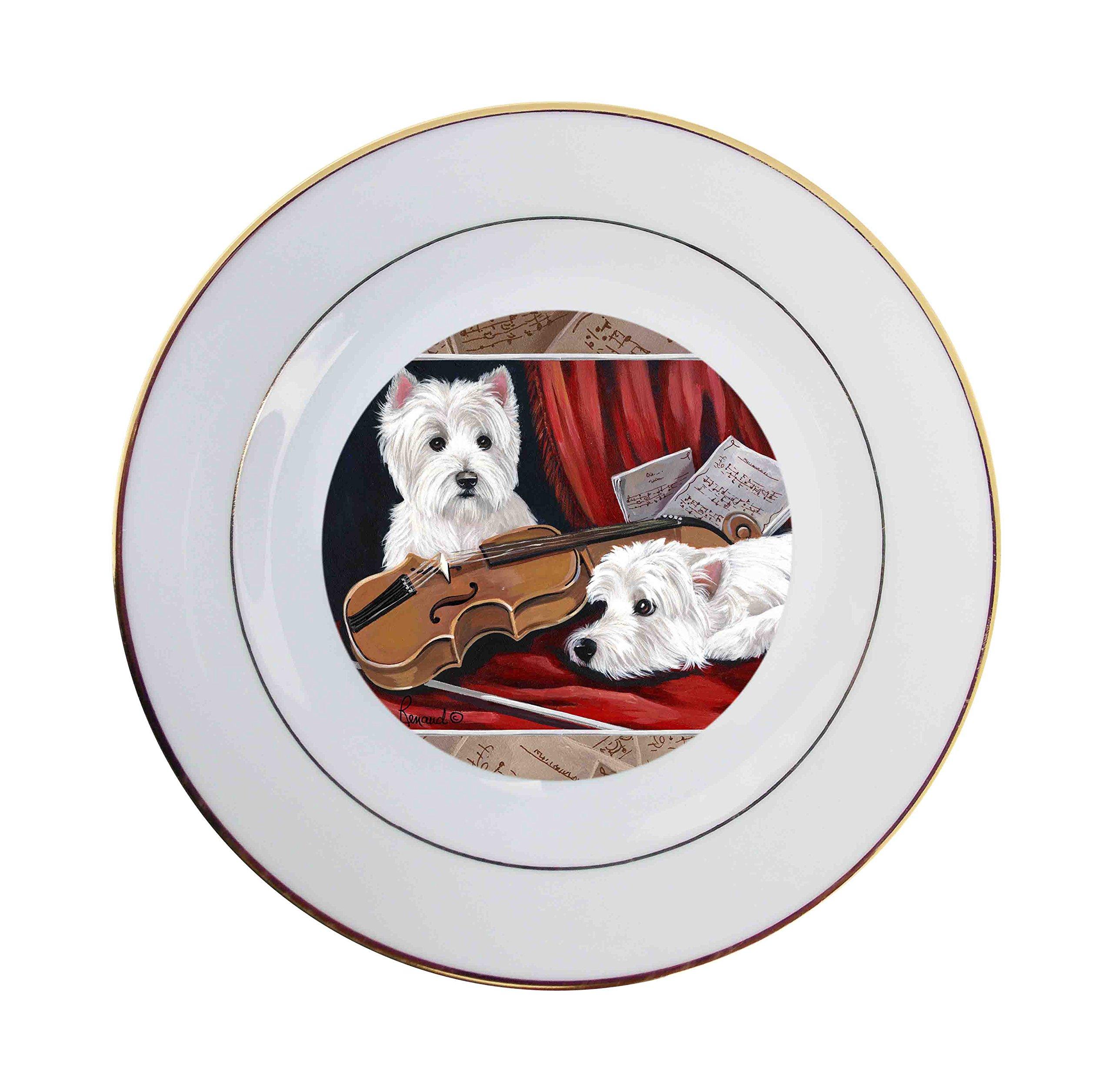West Highland Terrier Westie Fiddlers-Ceramic Plate