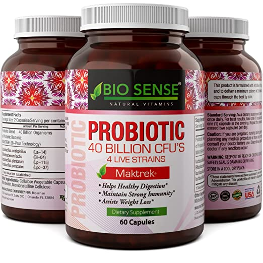 Natures Design Probiotics Supplement Natural Probiotic Acidophilus, Bifidobacteria, Lactobacillus Plantarum and Lactobacillus Paracasei - Protect Against Diarrhea and Boost Immune System for Women and Men
