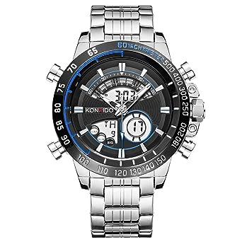 Amazon.com: Reloj de pulsera analógico digital de acero ...