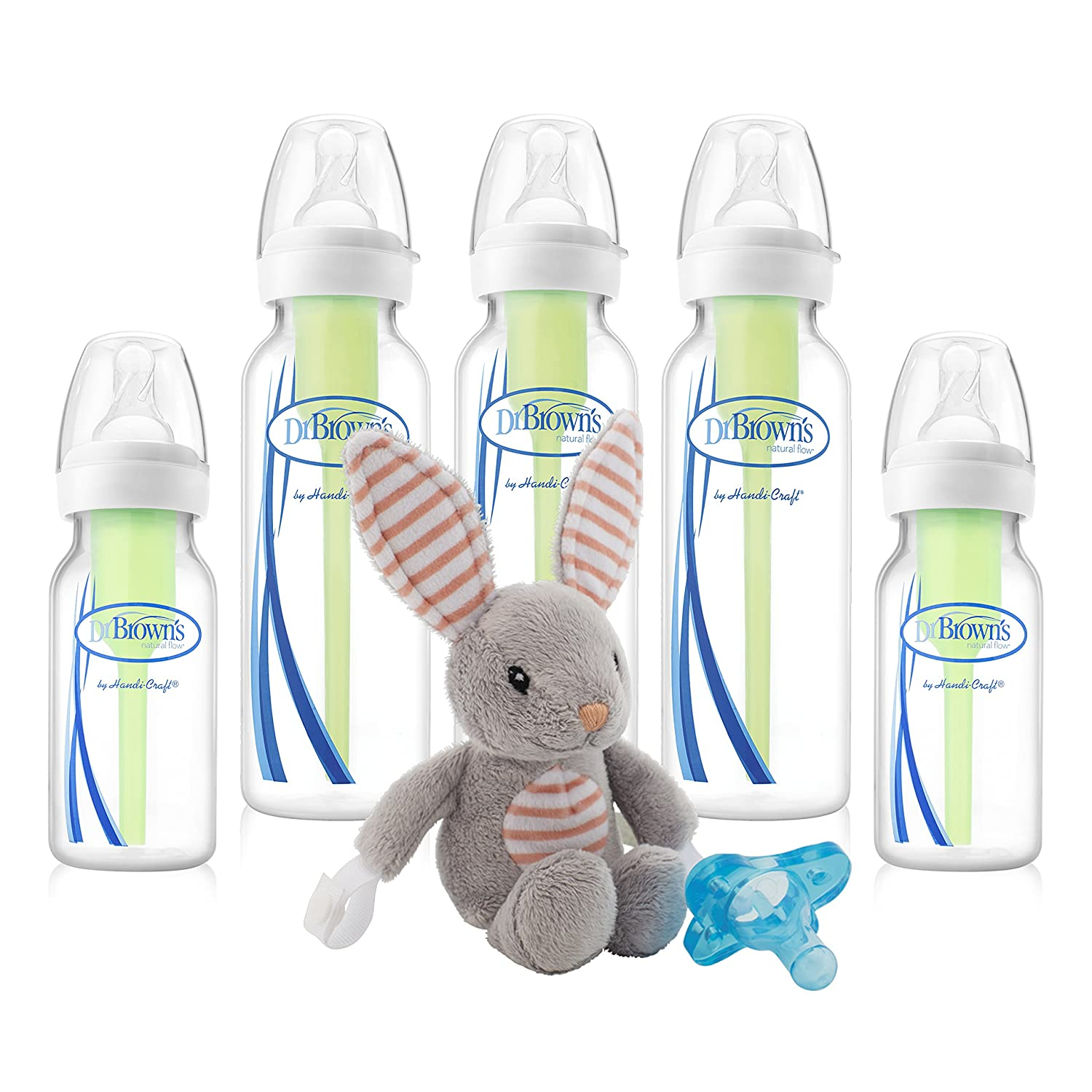 Dr. Brown's Options Baby Bottles Lovey Pacifier Set, Blue Bunny Dr. Brown' s SB05001
