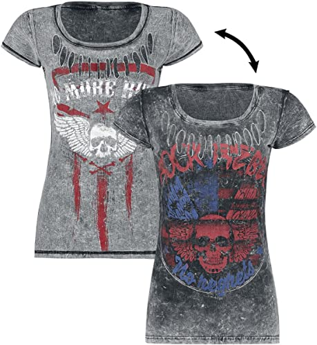 Rock Rebel by EMP Twice Lucky Camiseta Mujer Gris