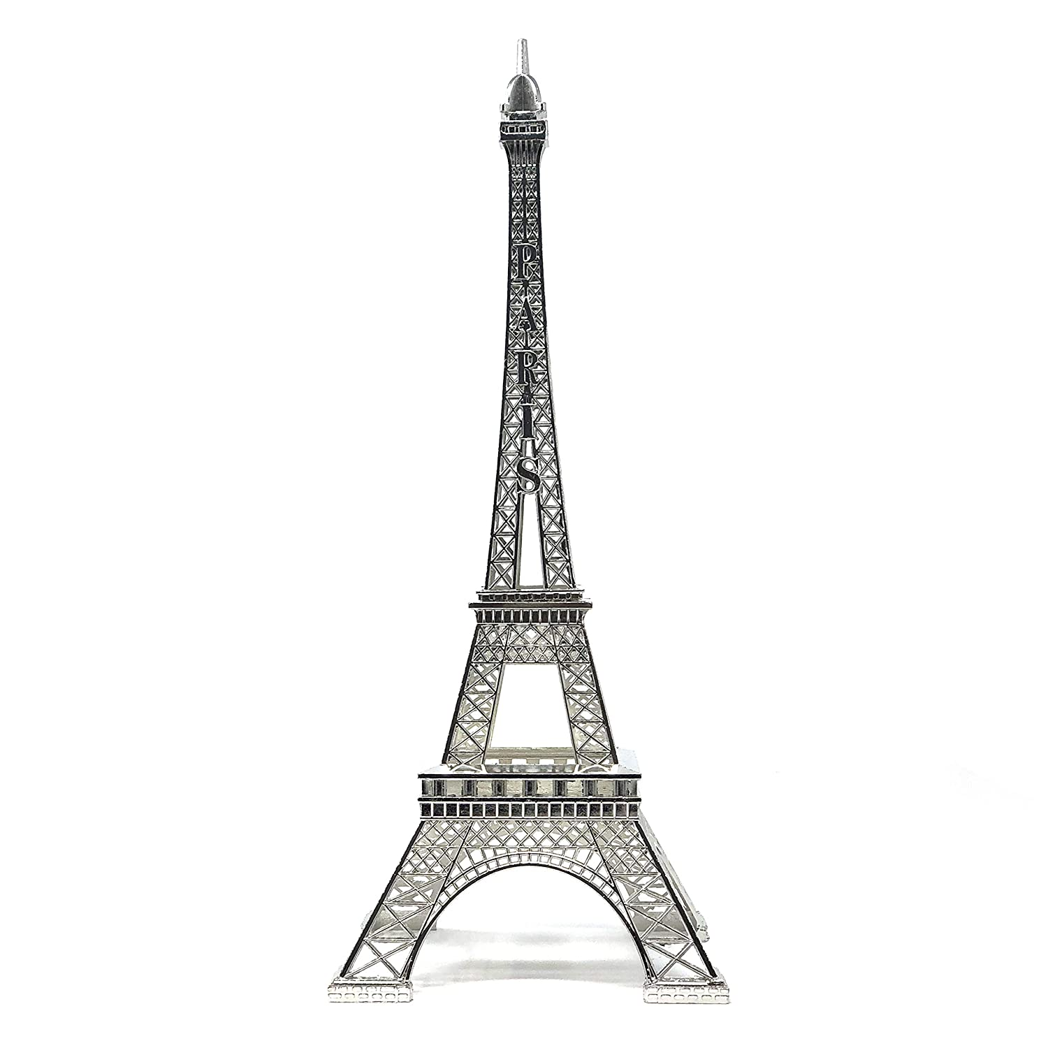 "allgala 15"" Eiffel Tower Statue Decor Alloy Metal, Silver"