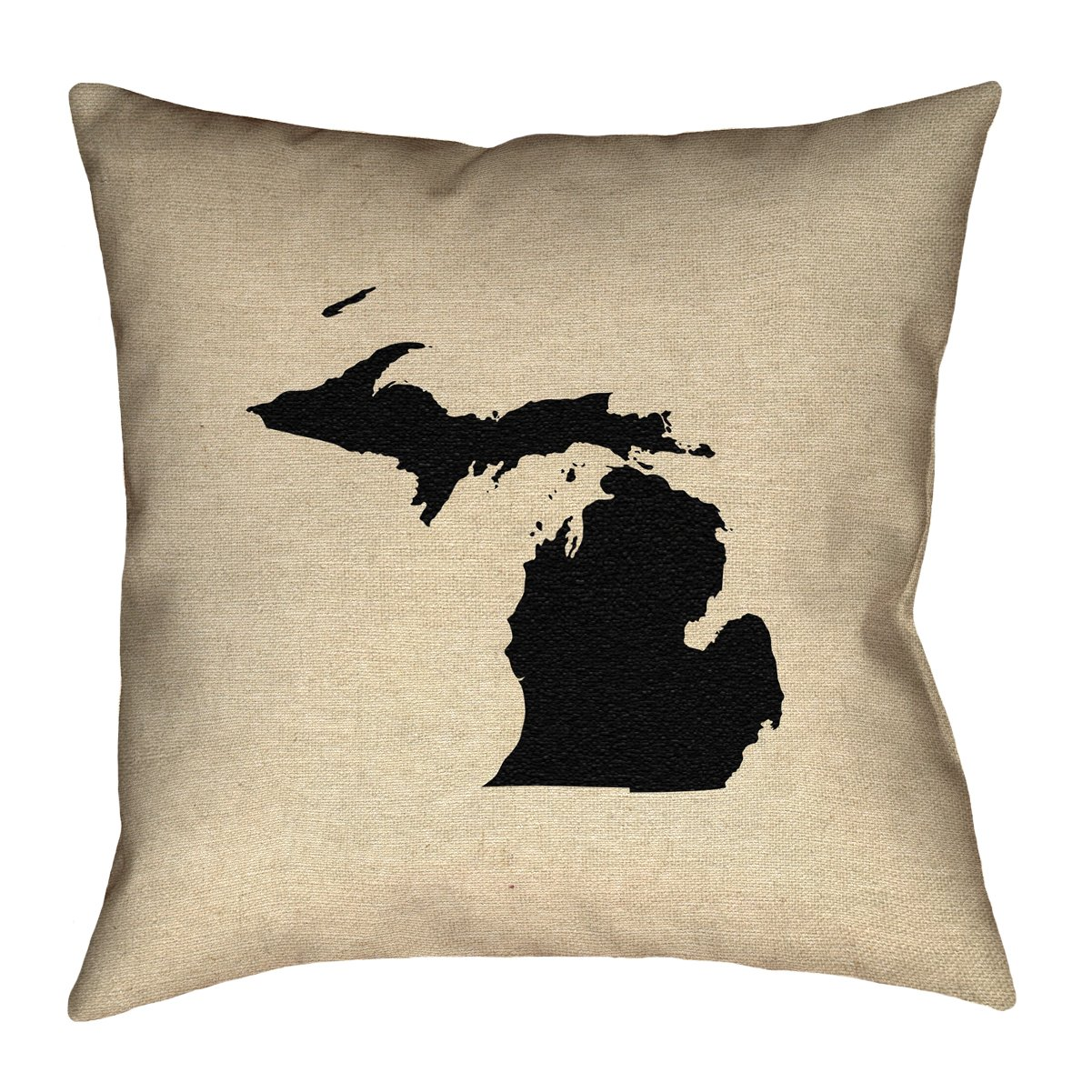ArtVerse Katelyn Smith 16 x 16 Faux Suede Double Sided Print with Concealed Zipper /& Insert Michigan Pillow