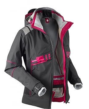 Veste de ski femme noir et rose