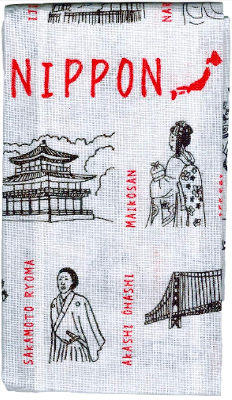 Japanese Tenugui Towel and Cotton Hand Towel Set Japan Import