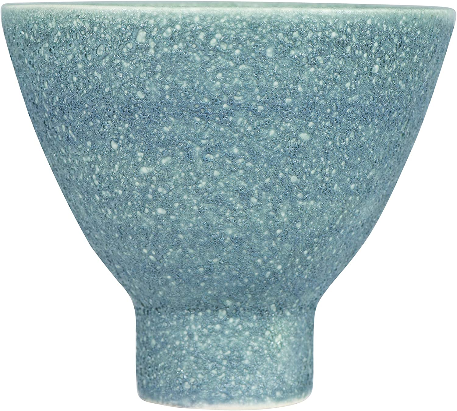 Creative Co-op Matte Stoneware Planter with Reactive Glaze Finish (Each one Will Vary), Teal Green