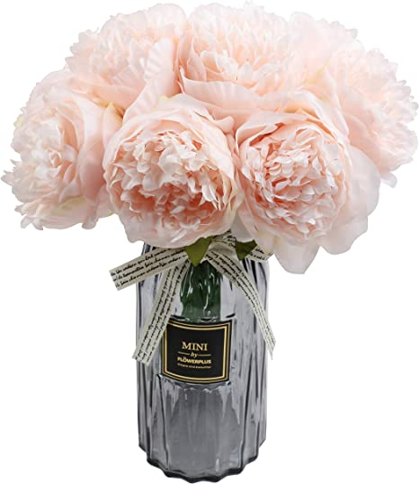 Details about  /3Pcs Artificial Flowers Peony Silk Head Plastic Branch Wedding Flores Decoration