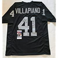 $228 » Phil Villapiano Oakland Raiders signed Custom jersey SBXI & Just Win Baby JSA - Autographed NFL Jerseys
