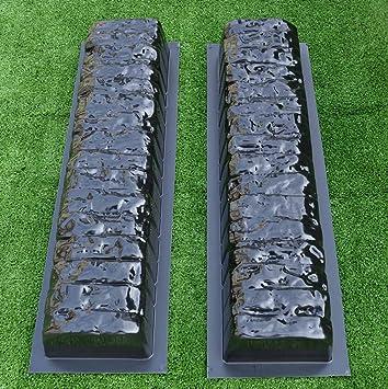Amazoncom Pcs EDGE STONE CONCRETE MOLDS Log Edging Border - Concrete lawn edging molds