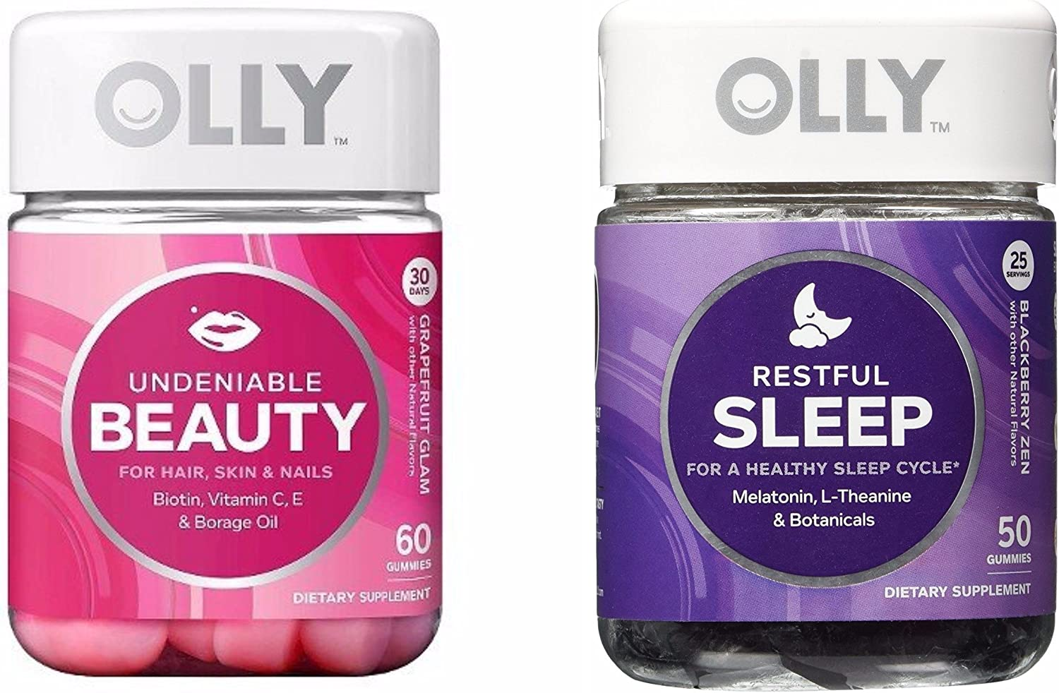 Amazon Com Olly Beauty Sleep Gummy Vitamin Set One Full Jar 50