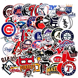 Baseball Logo Sticker Pack of 50 Baseball Logo Team Decals for Laptops Hydro Flasks Water Bottles Luggage