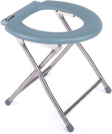 Vert /él/éphant du Confort Chaise portable Abattant de WC pour le camping randonn/ée et 5600/pliable Porta Pot Camp Abattant de WC/ plage /confortable Potty Portable pour adultes et enfants par