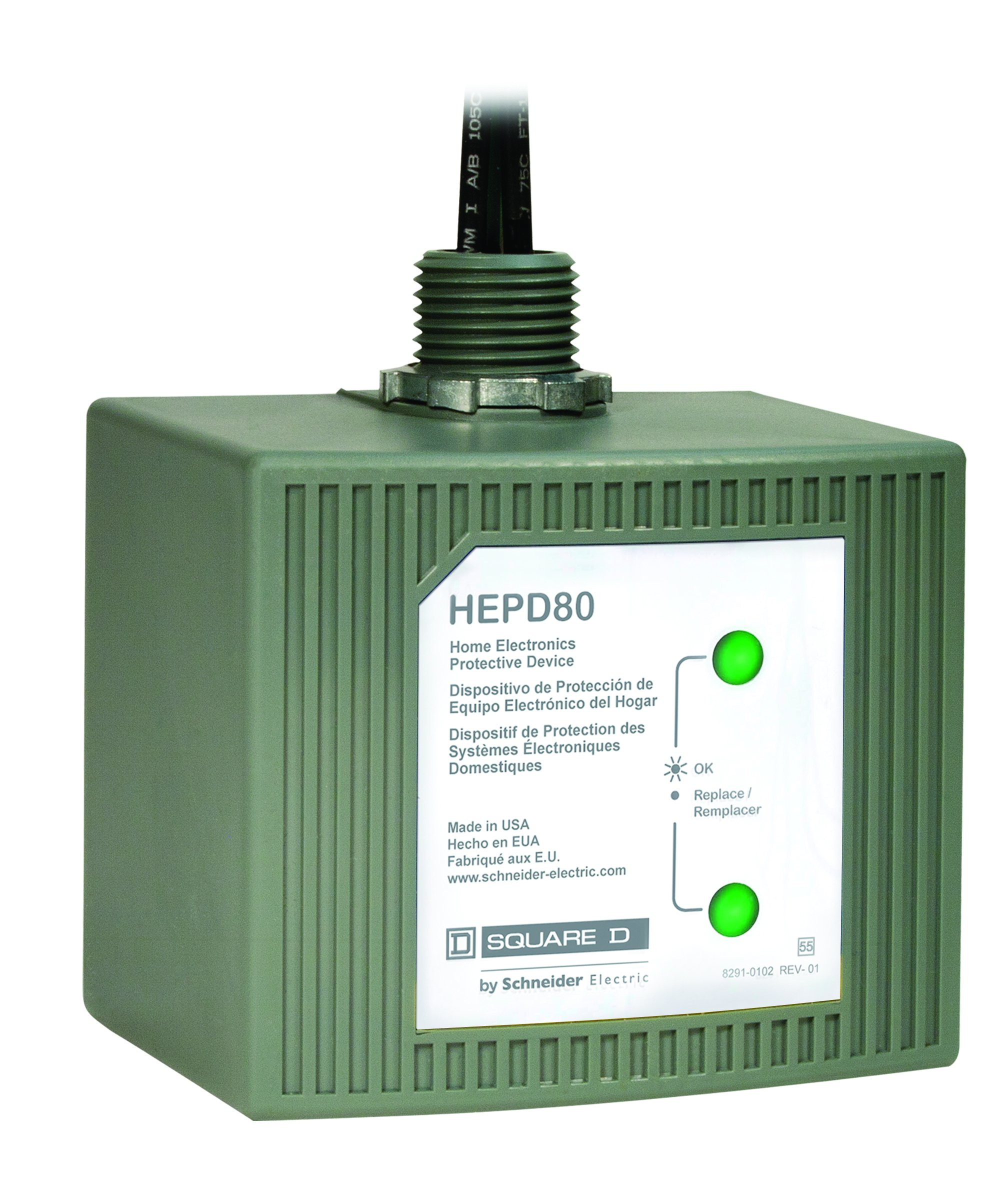 Square D by Schneider Electric HEPD80 Home Electronics Protective Device by Square D by Schneider Electric
