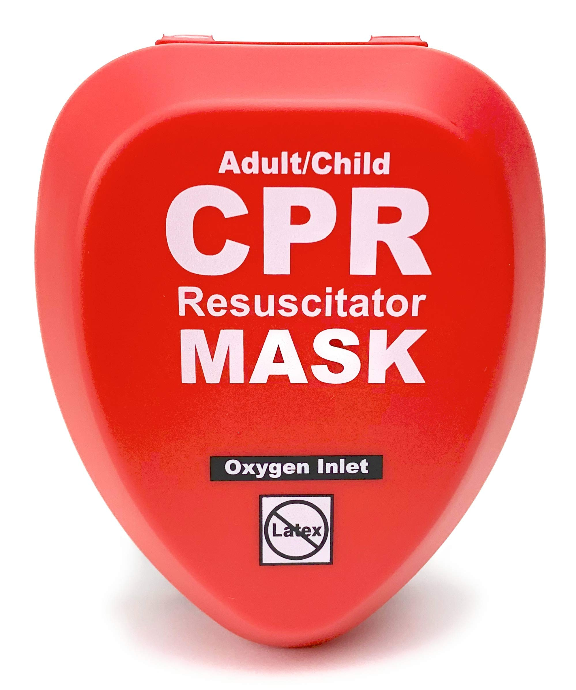 WNL Products CPR Rescue Mask, Adult/Child Pocket Resuscitator, Hard Case Kit with Belt Clip