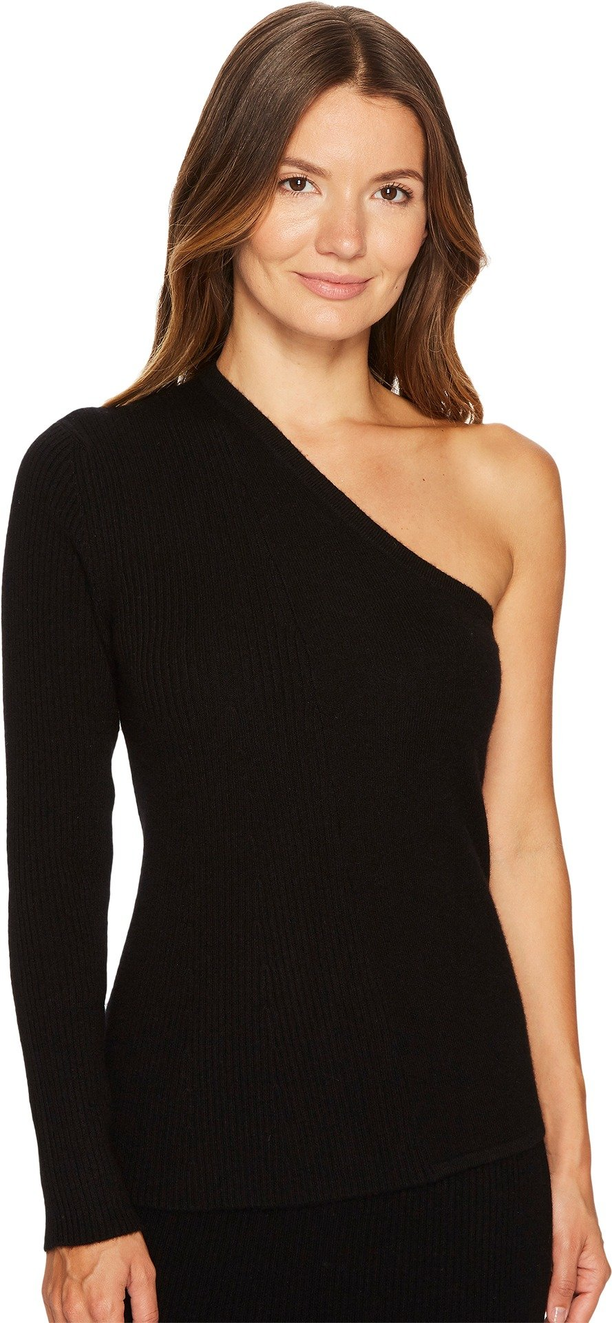Cashmere In Love Women's TISA Open Shoulder Pullover Black Small