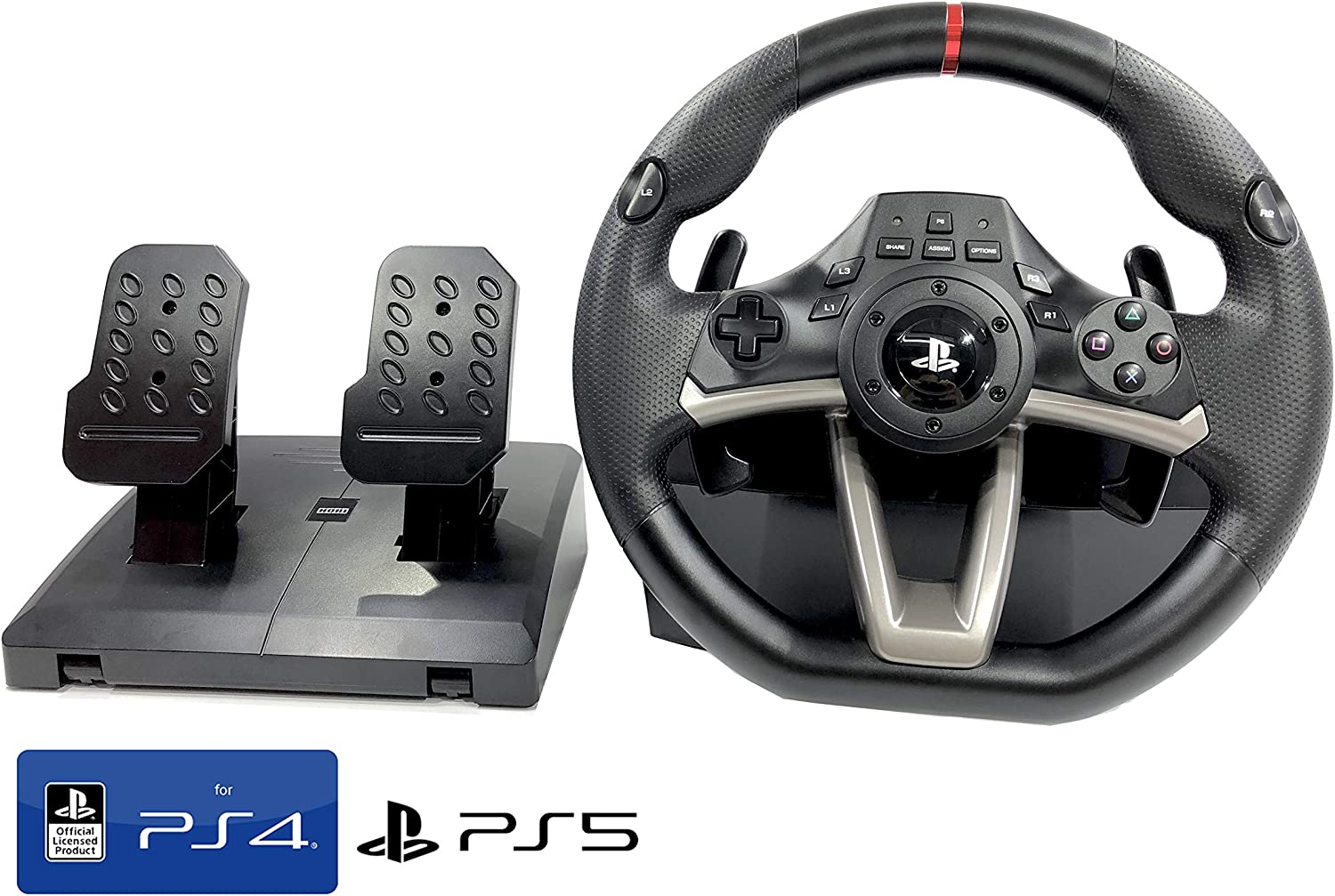 Volante y Pedales PS4 con Licencia Original Playstation 4 RWA Apex Incl.  Multi vibración TouchSense® (PS4/PS3/PC) (Volante + Pedales): Amazon.es:  Videojuegos