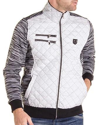 Blz Jeans Homme Noir Pour Et Gilet Couleur Blanc Zippé Sweat rrxA8dq