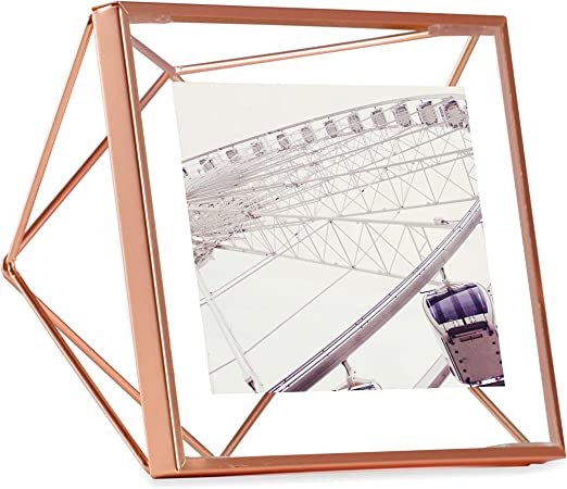 Photo Frame 8  x 10 Freestanding Copper Metal Open style Photograph Frame