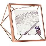 UMBRA Prisma. Cadre photo filaire en métal entre deux-verres Prisma. A poser ou à accrocher. Pour 1 photo 10x10cm. Coloris cuivre.