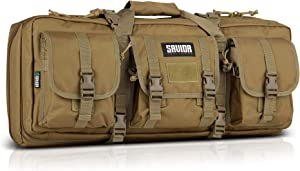 "Savior Equipment American Classic Tactical Double Short Barrel Rifle Gun Case Firearm Bag - Suitable for Subgun Bullpups Carbine Shotgun SMG SBR AR AK Pistol, Available Length in 24"" 28"" 32"""